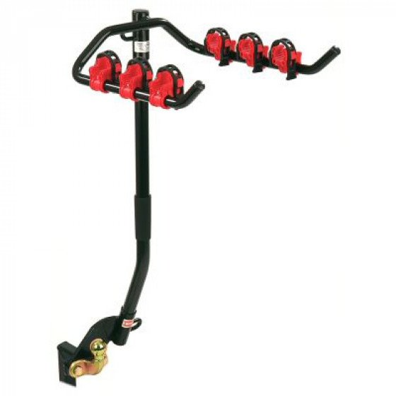 Flange Towbar Mounted Cycle Carrier for 3 bikes for vehicles with Spare Wheel (overhang up to 187mm)