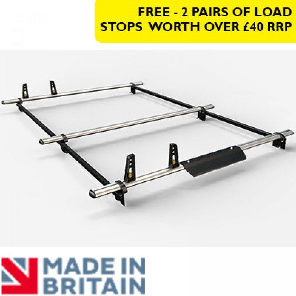 3 Van Guard Aluminium Roof Bar Kit for LCVs incl. wind deflector