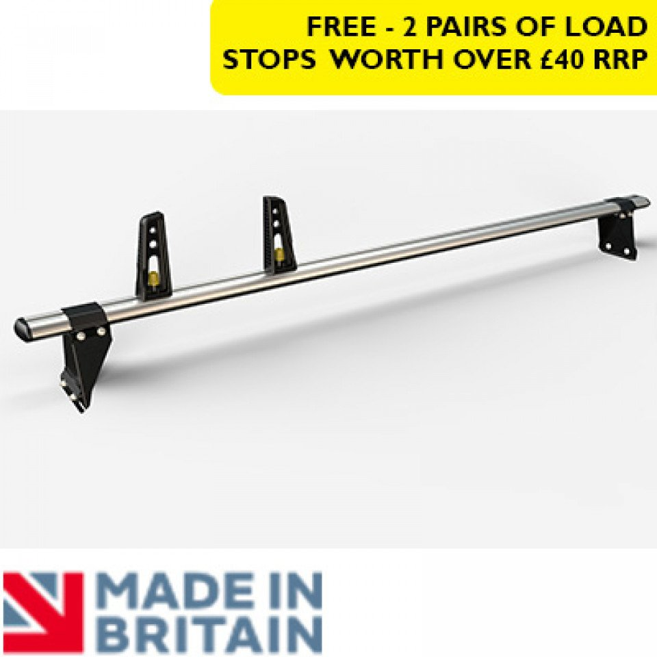 1 Van Guard Aluminium Roof Bar Kit for LCVs (130mm brackets)